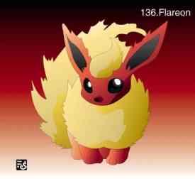 The Anime Zone Presents 251 Pokemon Pokedex Charactures Flareon
