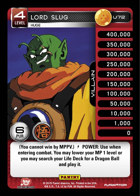 Foil Movie Collection DBZ Panini Near Mint 1 Turles/' Energy Ring R134