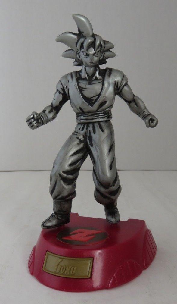"5 1/8 "" Tall Silver Saiyan Goku Action Figure with Trading Card"