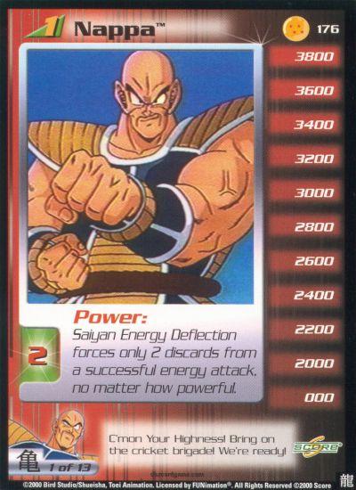 Dragon ball z saiyan saga rare cards - Dragon ball z 187 ...