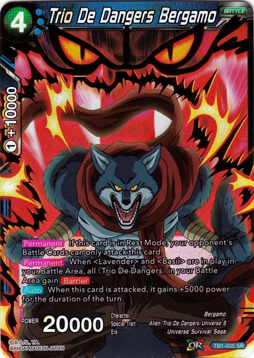 Trio De Dangers Bergamo TB1-035 SR Dragon Ball Super Card Game