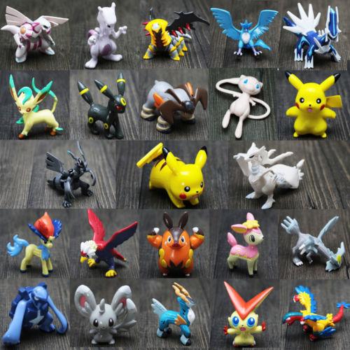 24pcs/set Pikachu Pokemon Mini Action Figures