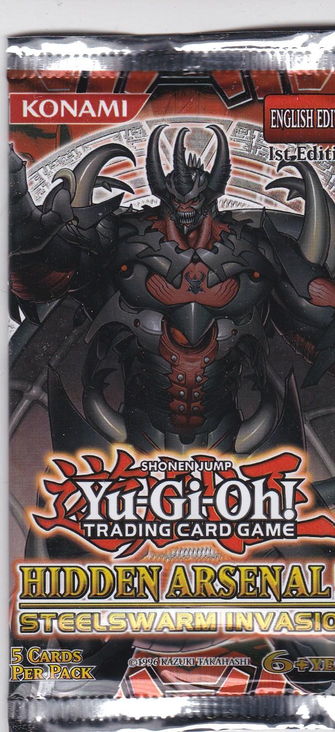 YuGiOh: Hidden Arsenal 5-Steelswarm Invasion booster pack